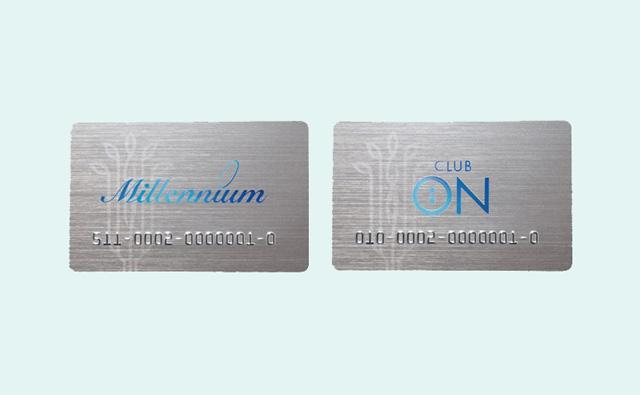 「ミレニアムカード」(そごうのカード)と「クラブ・オンカード」(西武百貨店のカード)