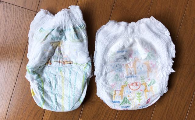 Mama Bear(ママベアー)のふわふわベビーパンツとパンパース