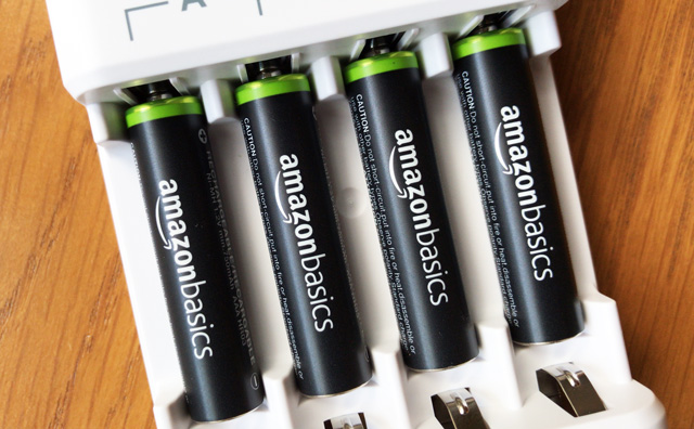 Amazonベーシックの充電池