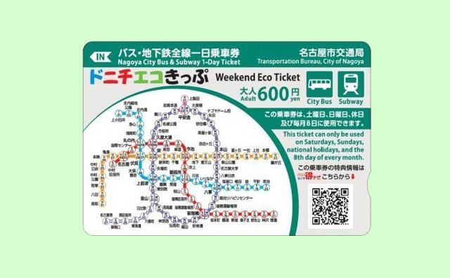 名古屋市交通局ドニチエコきっぷ
