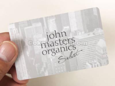 ジョンマスターオーガニックのポイントカード(直営店)