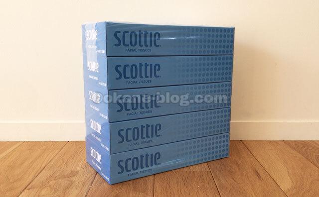 ティッシュペーパー スコッティティシュー 200組(5箱入) 日本製紙クレシア