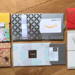 Amazonギフト券封筒タイプ全種類