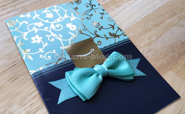 グリーティングタイプ 青のリボン
