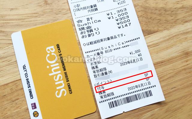 「SushiCaマネー」をチャージする方法